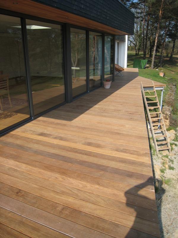 Menuiserie Pouivé :terrasse bois