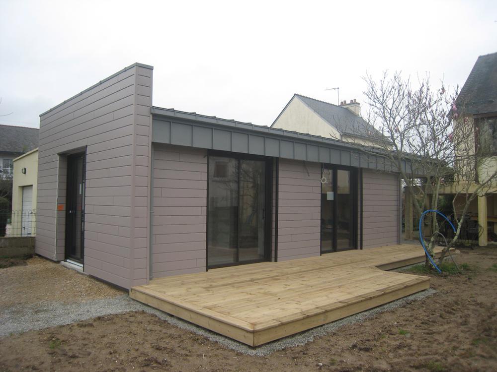 Menuiserie Pouivé : construction extension bois