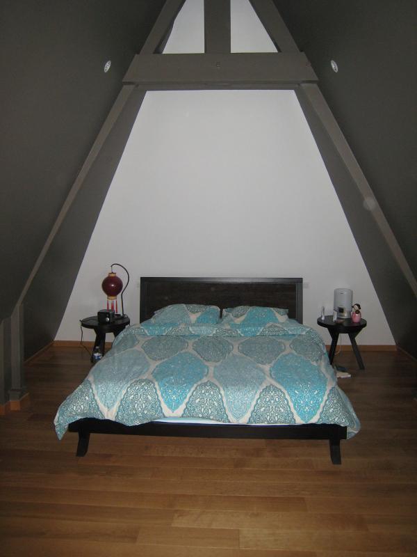 Menuiserie Pouivé :Combles aménagés en chambre.