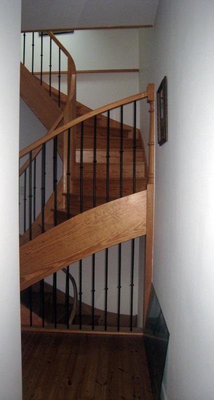 Escalier mixte bois métal
